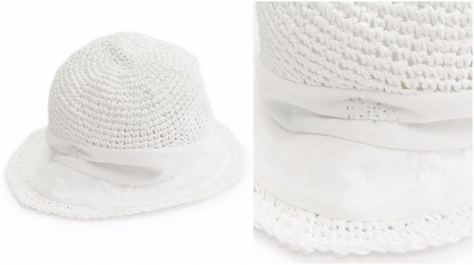 chisaki(チサキ)の真っ白な帽子