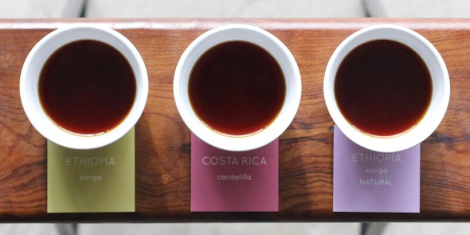 ライトアップコーヒー下北沢の3種類のコーヒーが飲める「TASTING SET」