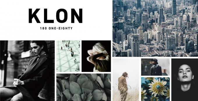 モダンでシンプルな「KLON(クローン)」のイメージ写真がいくつか並べられている