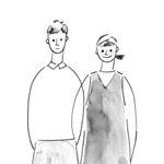 陶芸家の安藤大吾さん・安藤さと子さんご夫妻の絵