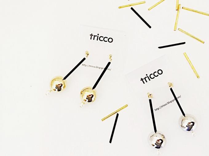 パールやメタルボールで作られた「tricco(トリッコ)」のイヤーアクセサリー
