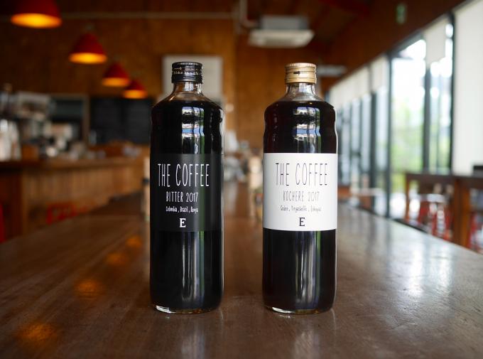 「Elmers Green(エルマーズグリーン)」のリキッドアイスコーヒー、ビターとコチョレ