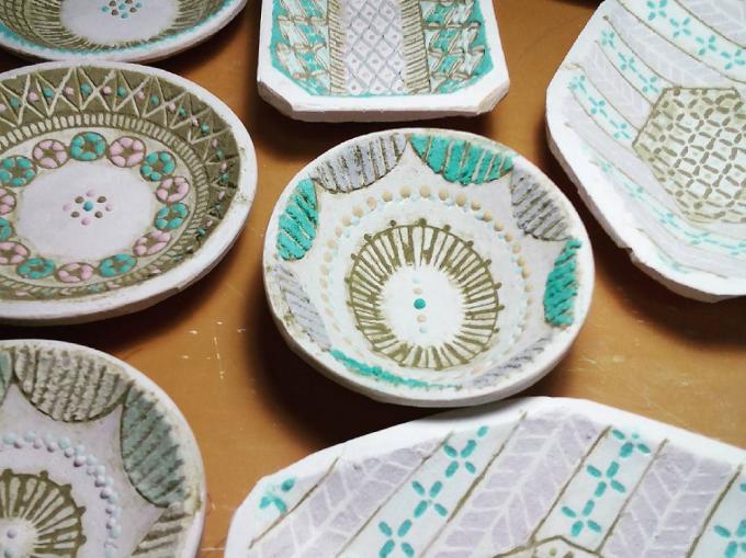 竹中悠記(たけなかゆうき)さんが制作したお皿たち