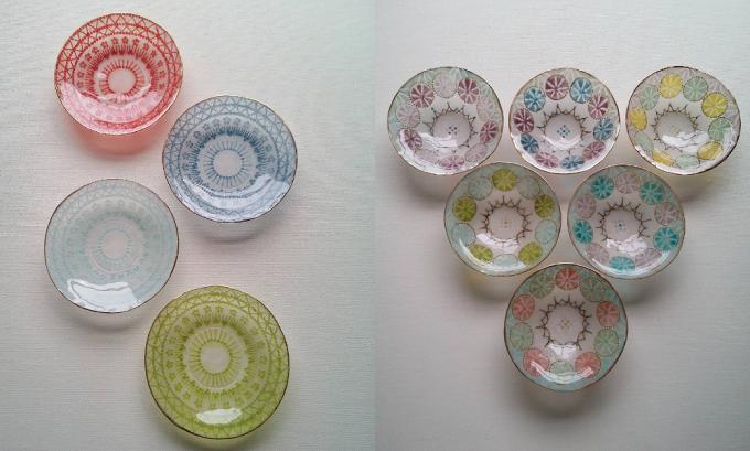 金彩を施した竹中悠記(たけなかゆうき)さんの小皿たち