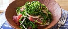 〈旬レシピ〉野菜をハワイ流にアレンジ。おかひじきのアヒポキ風サラダ