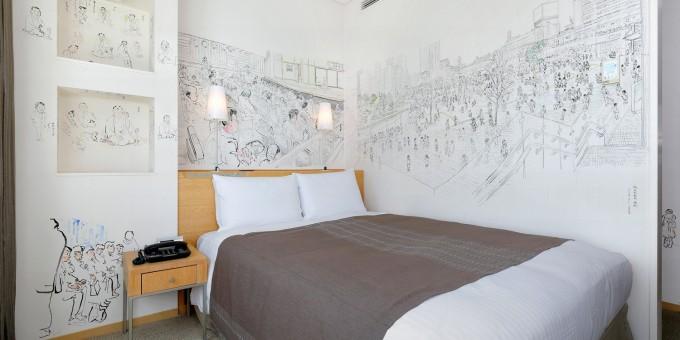 「Artist in Hotel」内の中嶋修さんが描いた『日本人』