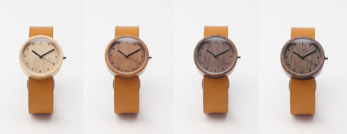 NAKARI WATCH JPの木・革を使った腕時計4種