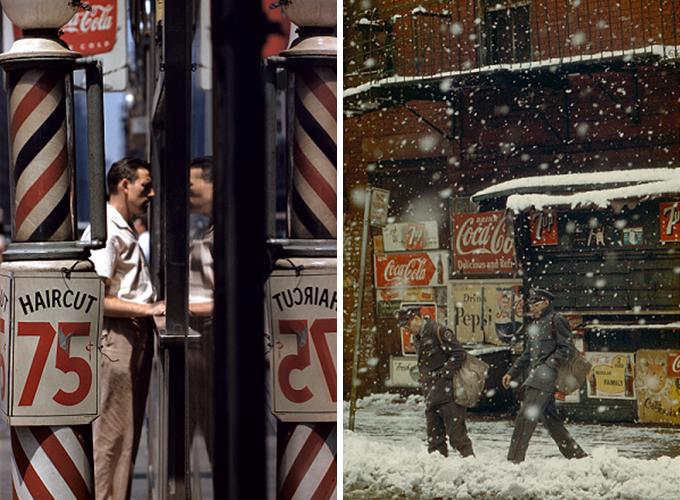 ソール・ライターが撮影した「床屋」と「郵便配達」の写真
