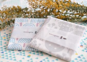 手刷りならではのあたたかみが魅力。「nocogou」のテキスタイル&布雑貨