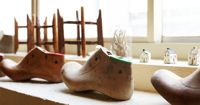 「nitoel」の靴を作る木の靴型
