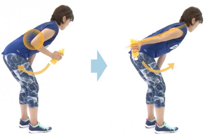 二の腕引き締めエクササイズ(キックバック)