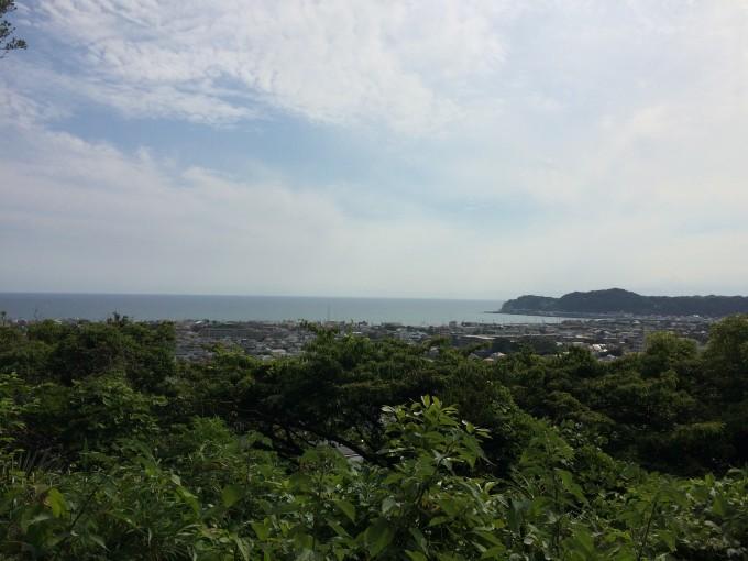「八雲神社」の『祇園山ハイキングコース』。見晴台からの景色