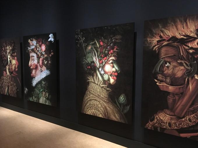野菜や、植物、道具などを使って描かれたジュゼッペ・アルチンボルドの作品