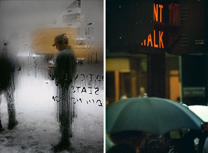ソール・ライターが撮影した「雪」と「赤信号」の写真