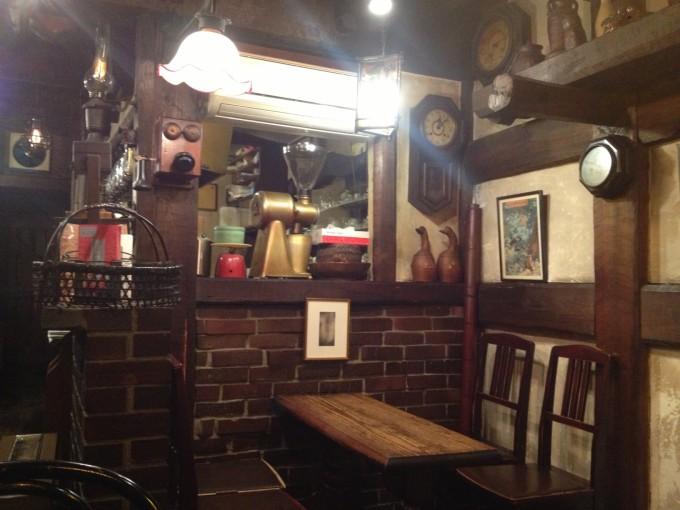 カフェ「物豆奇(モノズキ)」の店内の雰囲気