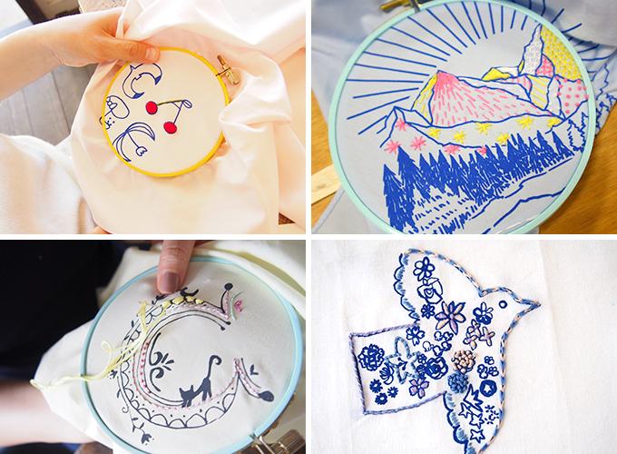 矢崎順子さん「artist in」主催の刺繍カフェの刺繍作品4