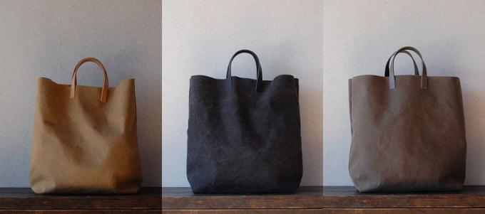 「am」の帆布&革ミミトートバッグ3種類