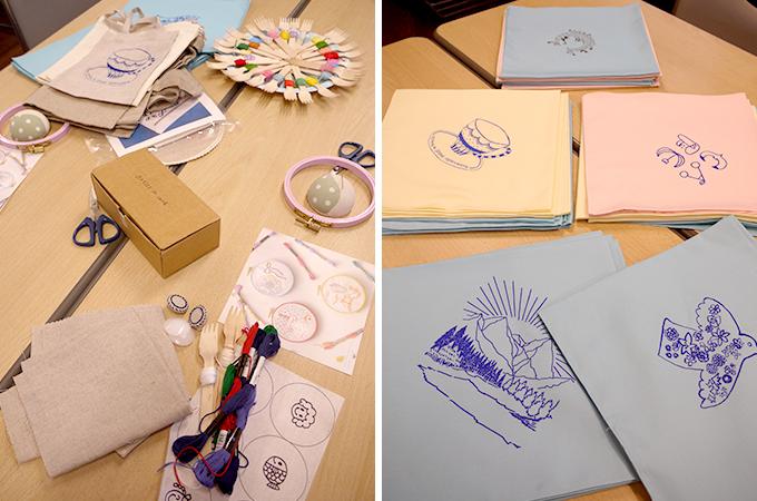 矢崎順子さん「artist in」主催の刺繍カフェの手芸道具