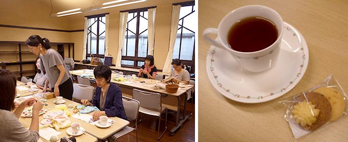 矢崎順子さん「artist in」主催の刺繍カフェの様子