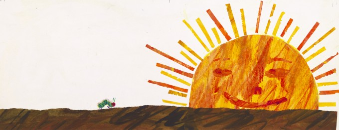 エリック・カールの『はらぺこあおむし』の別案原画