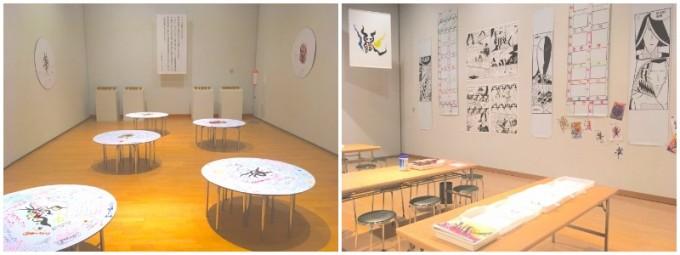 『岡本太郎と遊ぶ』展では、体験だけれなく、アウトプットできる