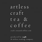 「artless craft tea & coffee(アートレスクラフトティーアンドコーヒー)」のロゴ