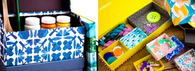 「BOX&NEEDLE」で開催されるワークショップで作る貼箱