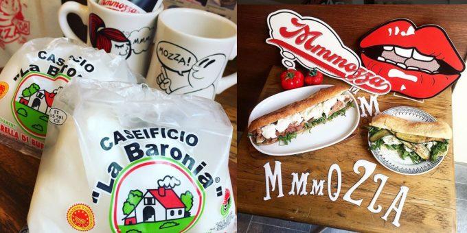 持ち帰りもできる「Mmmozza」のサンドイッチ
