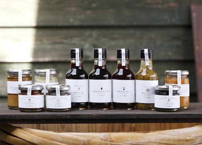 「うみのアパルトマルシェ」に出展する『谷川醸造』の調味料