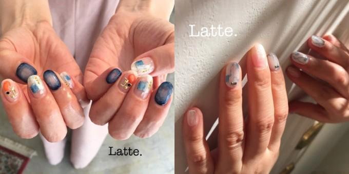 ネイルサロン「Latte.」の夏ネイル2種類