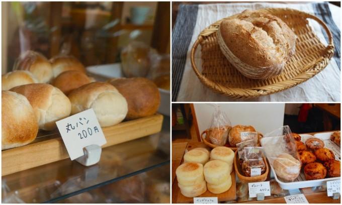 浅草のパン屋「粉花」の丸パンとカンパーニュとマフィン