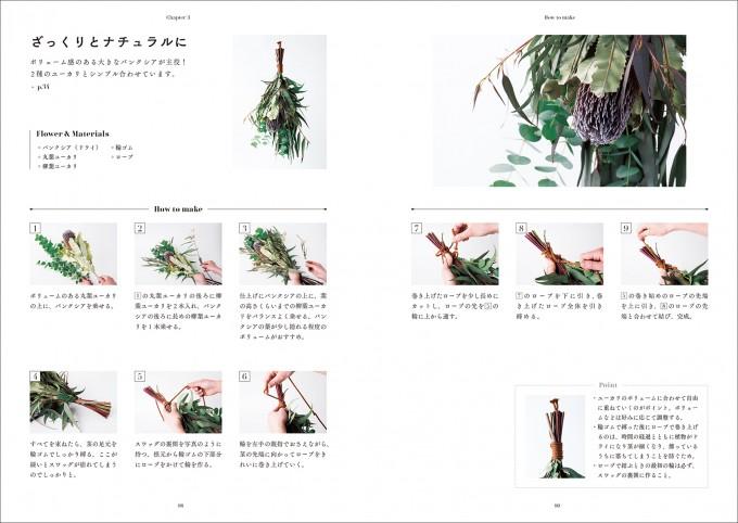 『花の壁飾り スワッグの作り方』のスワッグの作り方