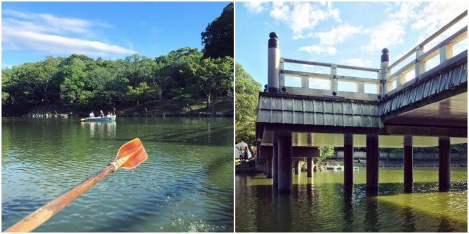 奈良の穴場スポット「浮見堂」ボートからの眺望