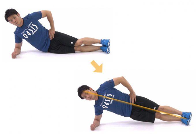 基本の体幹トレーニング「プランク」の応用編「サイドプランク」