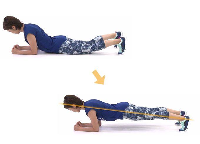 基本の体幹トレーニング「プランク」のやり方