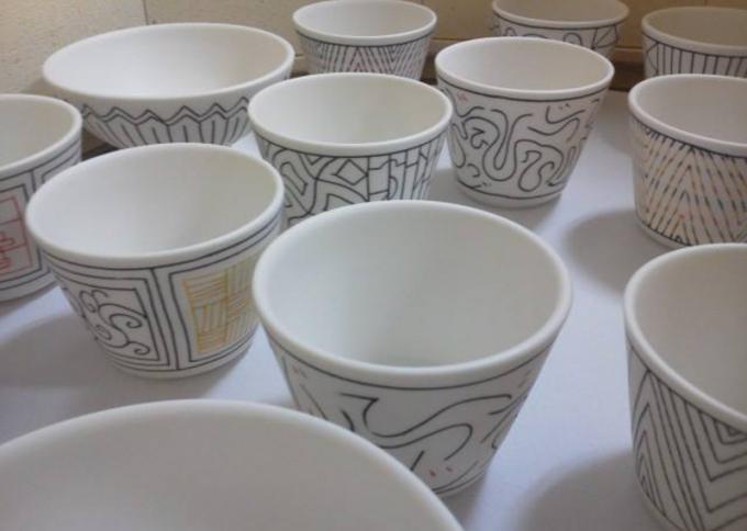 陶芸家・勝村 顕飛さんが制作した陶芸作品数個