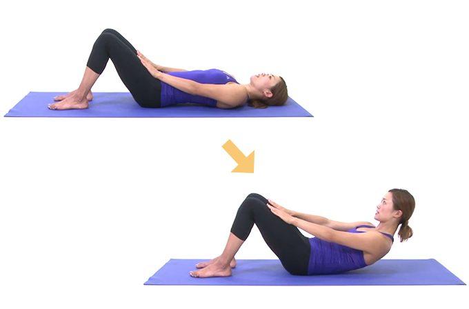 体幹トレーニング「ハーフロールアップ」