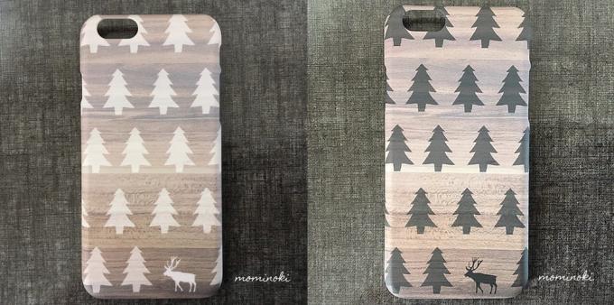 「北欧スマホケース屋 モミノキ」のノルウェーの森デザインのスマホケース