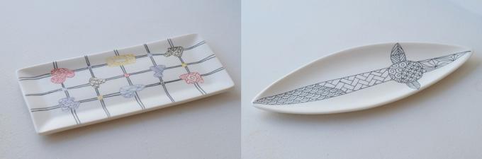 籐劇画・勝村 顕飛さんが製作した長皿2種類