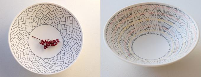 陶芸家・勝村 顕飛さんの中鉢2種類