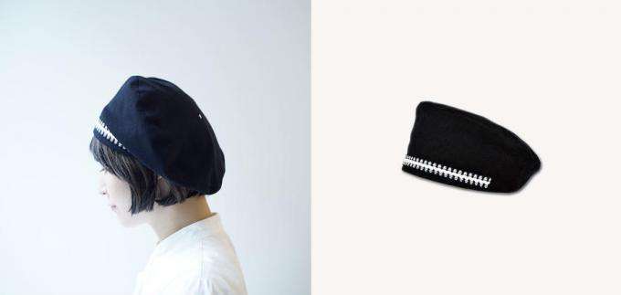 「PUT ON(プットオン)」のコード入りベレー帽