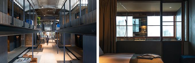 広島県の尾道「ONOMICHI U2」内の自転車と泊まれるホテル