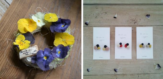 「ninon」の花を使たアクセサリー