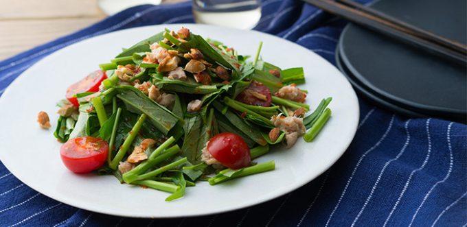 「サラダ空芯菜とツナの中華風レモンナッツサラダ」のレシピ2
