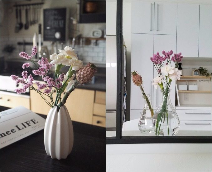 「Bloomee LIFE」から届く花束のコーディネート例