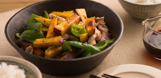 ベジテーブル「豚肉とさつまいものポン酢マリネ」のレシピ画像