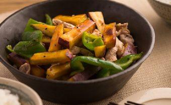しっとり、ほっくほく。秋の味覚が楽しめる「豚肉とさつまいものポン酢マリネ」のレシピ