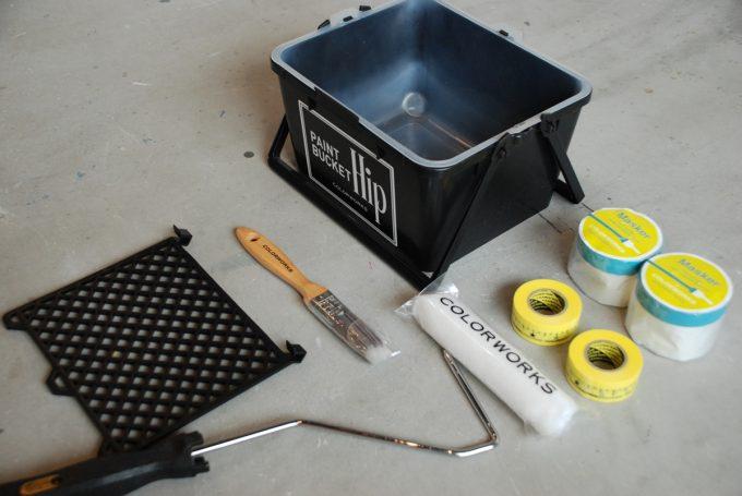 ペイントに使用する道具の数々