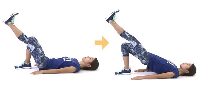 簡単体幹トレーニング「シングルレッグヒップリフト」