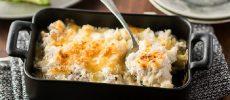 スプーンを入れればサクサクとろとろ。旬の里芋を使った「里芋のクリームグラタン」のレシピ